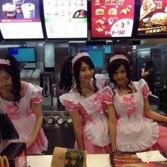 대만의 맥도날드 점원 복장