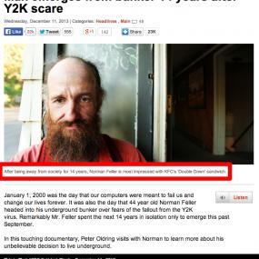 Y2K가 무서워 지하 벙커에서 14년간 생활한 남자